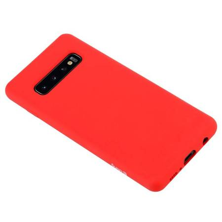 Crong Color Cover - Flexible Case for Samsung Galaxy S10+ (Red)