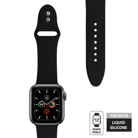 Crong Liquid Band for Apple Watch 38/40 mm (Black)