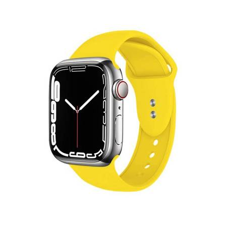 Crong Liquid Band for Apple Watch 42/44 mm (Yellow)