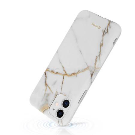 Crong Marble Case – Case for iPhone 11 (White)