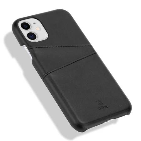Crong Neat Cover - PU Leather Case for iPhone 11 (black)