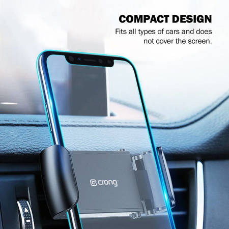 Crong Universal Smart Car Holder - Universal car phone holder 4-6.7 (black)