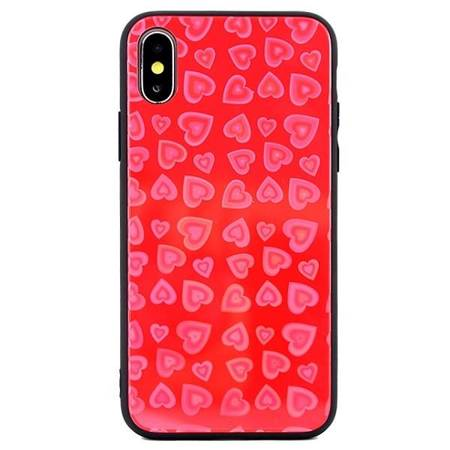Etui Hearts Glass Samsung S10 wzór 1 (red) G973
