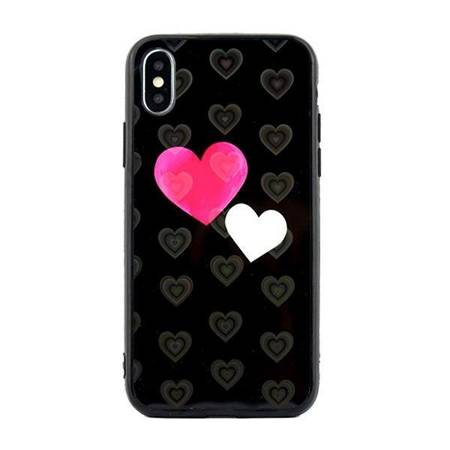 Etui Hearts iPhone 7/8/SE 2020 wzór 5 (hearts black)