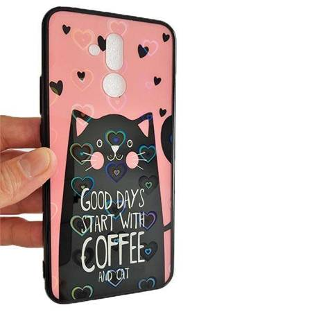 Etui Hearts iPhone Xs Max wzór 6 (cat pink)