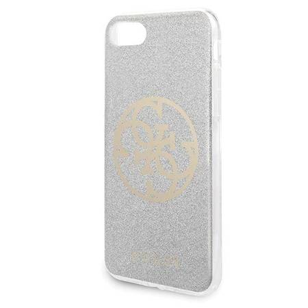 Guess Circle Glitter 4G - Case iPhone SE 2020 / 8 / 7 (Light Grey)