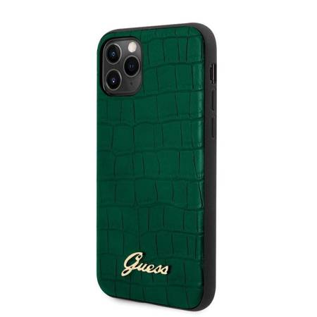 Guess Croco Case - Case iPhone 11 Pro (Dark Green)