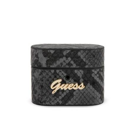 Guess GUACAPPUSNSMLBK AirPods Pro cover czarny/black Python Collection