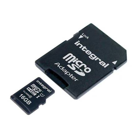 Integral UltimaPro - Memory Card 16GB microSDHC/XC 90MB/s Class 10 UHS-I U1 + Adapter