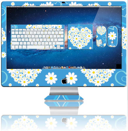 Nexgen Skins with 3D effect for iMac 27 (Hearts and Daisies 3D)