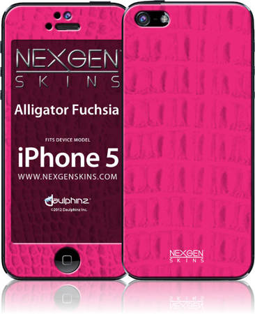 Nexgen Skins with 3D effect for iPhone 5/5s/SE (Alligator Fuchsia 3D)