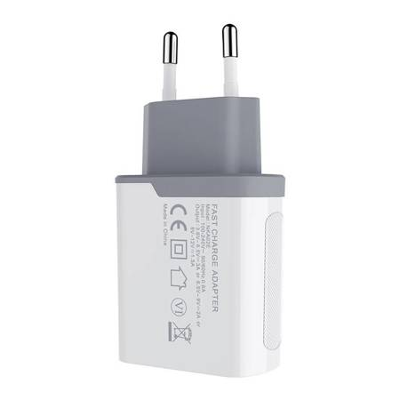 Nillkin Fast Charger Adapter 18W, QC3.0, USB-A (White)