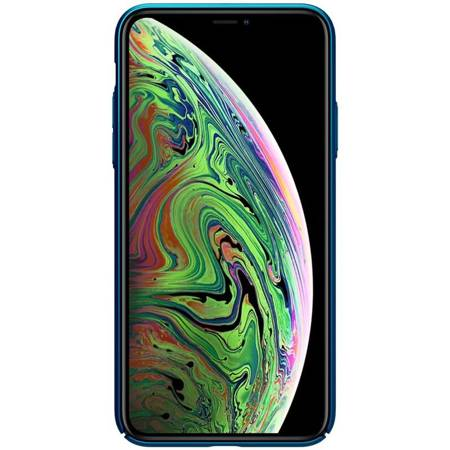 Nillkin Super Frosted Shield - Case Apple iPhone 11 with logo cutout (Peacock Blue)