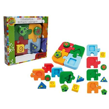 TOP BRIGHT - Elephant wood blocks