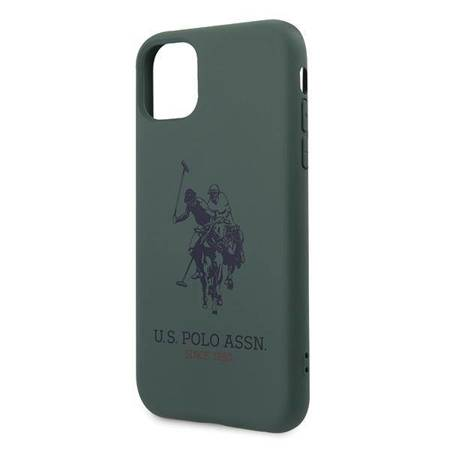 US Polo USHCN61SLHRGN iPhone 11 zielony/green Silicone Collection