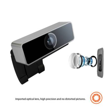 Coolcam Web Camera - Kamera internetowa USB, Full HD 1080p (Czarny, Aluminium)