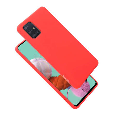 Crong Color Cover - Etui Samsung Galaxy A51 (czerwony)