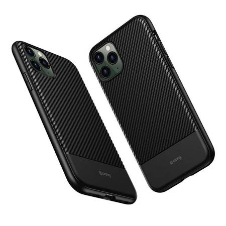 Crong Prestige Carbon Cover - Etui iPhone 11 Pro Max (czarny)