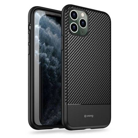 Crong Prestige Carbon Cover - Etui iPhone 11 Pro (czarny)