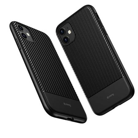 Crong Prestige Carbon Cover - Etui iPhone 11 (czarny)