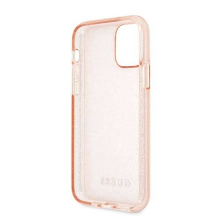 Guess Glitter Case - Etui iPhone 11 Pro (Pink)