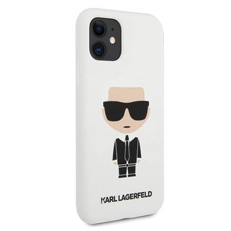 Karl Lagerfeld Fullbody Silicone Iconic - Etui iPhone 11 (White)