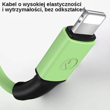 USAMS Kabel U52 lightning 2A Fast Charge 1m biały/white SJ434USB01 (US-SJ434)