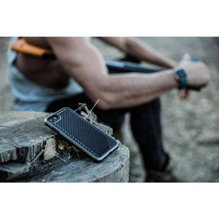X-Doria Defense Lux - Etui aluminiowe iPhone SE 2020 / 8 / 7 (Drop test 3m) (Black Carbon Fiber)