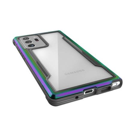 X-Doria Raptic Shield - Etui aluminiowe Samsung Galaxy Note 20 Ultra (Drop test 3m) (Iridescent)